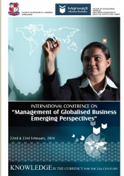 International Conference on Globalised Business : Emerging Perspective