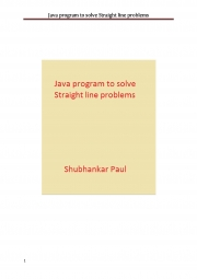 Java program to solve Straight line problems (eBook)