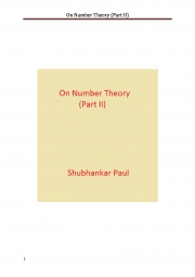 On Number Theory (Part II) (eBook)