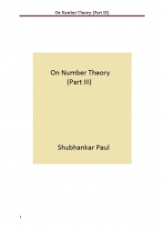 On Number Theory (Part III) (eBook)
