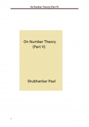 On Number Theory (Part V) (eBook)