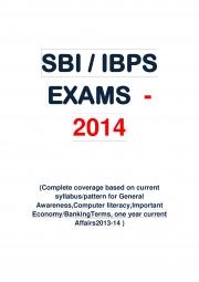 SBI/ IBPS -2014 Special Edition (eBook)