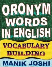 Oronym Words in English (eBook)