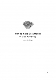 How to make extra money for that rainy day (eBook)