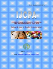 International Journal of Chemical and Pharmaceutical Analysis (IJCPA), Volume-2, Issue-1(October-December 2014) (eBook)