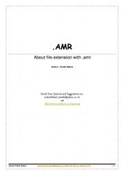 .AMR (eBook)