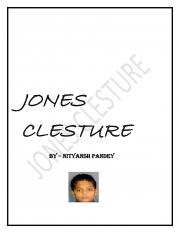 JONES CLESTURE (eBook)