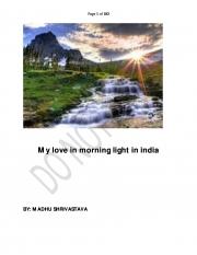 My love in morning light in india  (eBook)