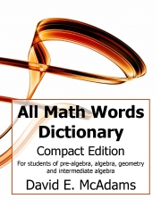 All Math Words Dictionary (Compact HB)