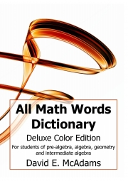 All Math Words Dictionary (Deluxe Color HB)