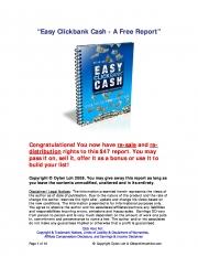 """""""Easy Clickbank Cash (eBook)"""