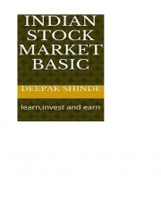 Indian stock market basic  (eBook)
