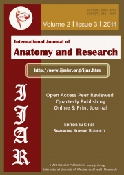 International Journal of Anatomy and Research | Volume 2 | Issue 3 | 2014  (Black & White)
