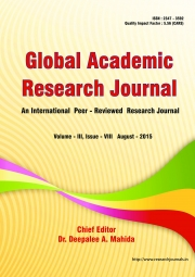 Global Academic Research Journal [August - 2015]