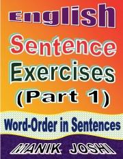 English Sentence Exercises: Word-Order In Sentences (eBook)