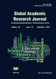 Global Academic Research Journal [September - 2015]