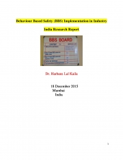 Behaviour Based Safety (BBS) Implementation in Industry (eBook)