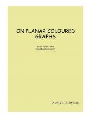 ON PLANAR COLOURED GRAPHS (eBook)