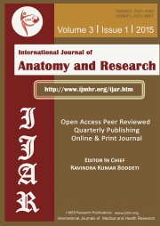 International Journal of Anatomy and Research Volume 3 Issue 1 2015, (Black and white)