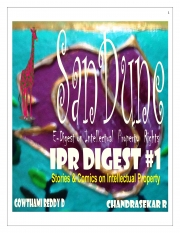 SanDune Intellectual Property Rights [IPR] Digest #1 (eBook)