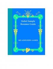 Siebel Sample Resumes Guide (eBook)