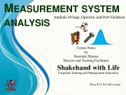 Measurement System Analysis: Analysis of Gage, Operator and Part variation (eBook)