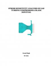 STRESS SENSITIVITY ANALYSIS OF GAS TURBINE COMPRESSOR & BLADE DOVETAIL (eBook)