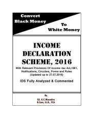 Income Declaration Scheme, 2016 (eBook)