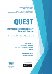 Quest International Research Journal [ Aug - Sept, 2016]