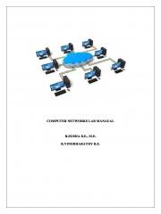 COMPUTER NETWORKS LAB MANUAL (eBook)