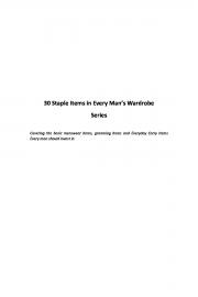 30 Staple Items every Man needs Part I (eBook)