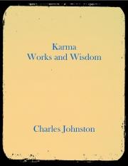Karma Works and Wisdom  (eBook)
