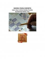 Sudoku Puzzle Secrets: Learn How to Solve Sudoku Puzzles (eBook)