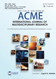 Acme International Journal : October - December, 2016