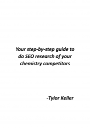 Your step-by-step guide to do SEO research of your chemistry competitors (eBook)