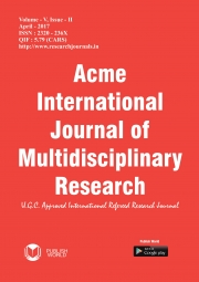 Acme International Journal : April - 2017