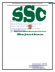 Assistant Agriculture Officer Exam (eBook)