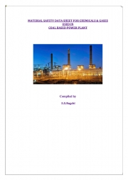 MATERIAL SAFETY DATA SHEET FOR CHEMICALS & GASES USED IN  COAL BASED POWER PLANT (eBook)