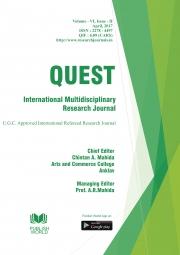 Quest International Multidisciplinary Research Journal : April - 2017