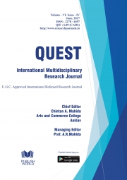 Quest International Multidisciplinary Research Journal : June - 2017