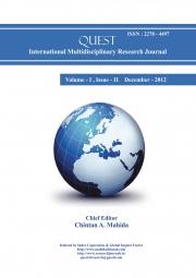 Quest International Multidisciplinary Research Journal : December - 2012