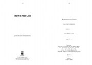 How I Met God (eBook)