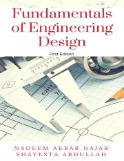 Fundamentals of Engineering Design (eBook)