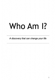 Who Am I? (eBook)