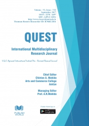 Quest International Multidisciplinary Research Journal (September - 2017)