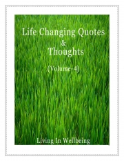 Life Changing Quotes & Thoughts (Volume 4) (eBook)