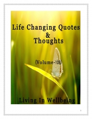Life Changing Quotes & Thoughts (Volume 108) (eBook)