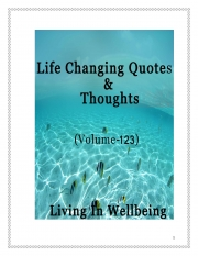 Life Changing Quotes & Thoughts (Volume 123) (eBook)