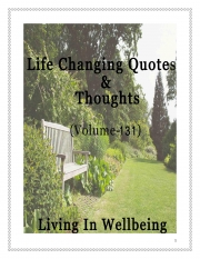 Life Changing Quotes & Thoughts (Volume 131) (eBook)