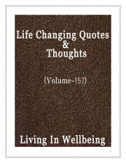 Life Changing Quotes & Thoughts (Volume 157) (eBook)